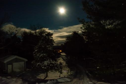 2016.01.23.0811 Snow Under Full Moon